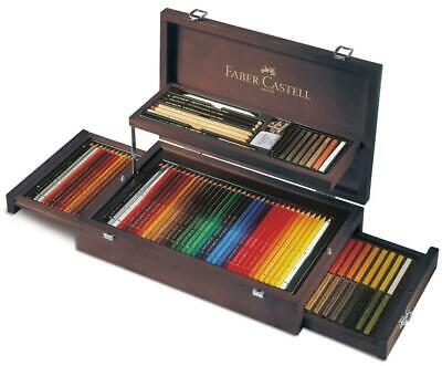Faber Castell Art & Graphic Pencils And Pastels Collection Wooden Case FC110086
