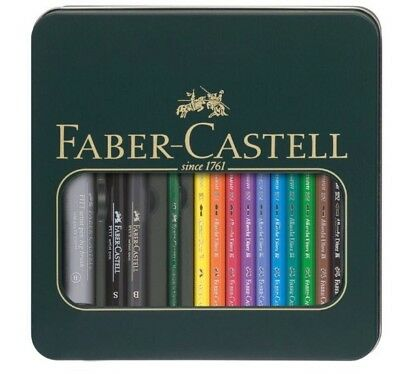 Faber Castell Watercolour Albrecht Dürer And Pitt Pen Mixed Media Tin FC117540