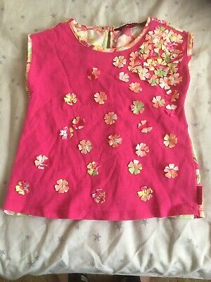Ted Baker Girl Age 2-3 Pink Top