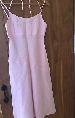 United Colours Of Benetton Pink Cotton Sundress Size Medium (10)