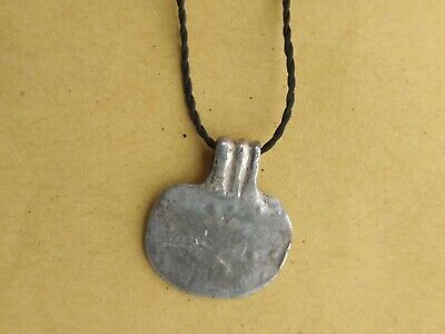 Rare !!! Ancient silver pendant amulet. Vikings. Celts 6-1 century BC
