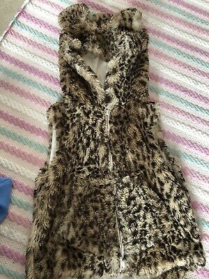 Girls Next Leopard Print Gilet Body Warmer Age 2-3