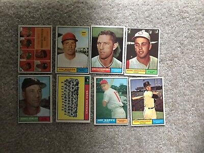 Lot of 8 1961 VG-EX Topps Baseball All Different #'s Nice Lot #5