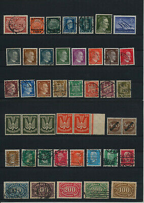 Germany, Deutsches Reich, Nazi, liquidation collection, stamps, Lot,used (RP 28)