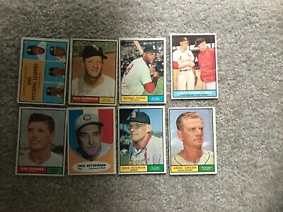 Lot of 8 1961 VG-EX Topps Baseball All Different #'s Nice Lot #6