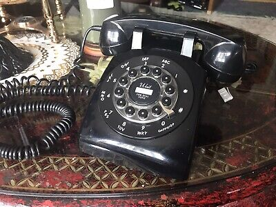Vintage Black Crosley Push Button Desk Telephone - WORKING
