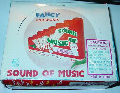 Tiger Head Brand Sound Of Music Fireworks Package Box Label 4 Pack