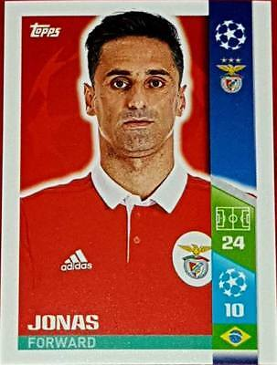 305 Jonas BENFICA 2017/2018 Topps UEFA Champions League stickers