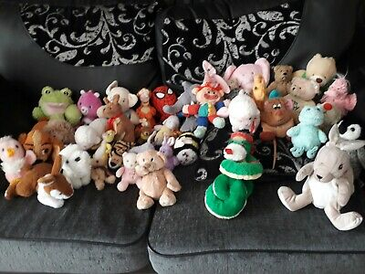 Large soft toy bundle approximately 40 in total