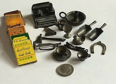 Mixed Lot of 1920's Cracker Jack Lead or Pot Metal Toy Prizes