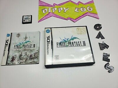 Final Fantasy 3 Nintendo DS Cib Complete AAA Shipping Dippy Egg Games