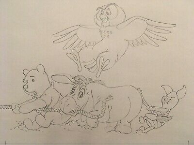 WINNIE the POOH - Original Production Illustration Art Drawing (Walt Disney)