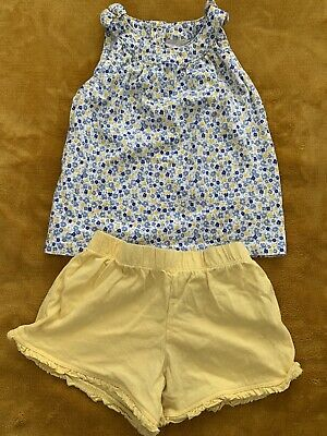 Baby Girl's 2 Piece Summer Floral Top & Yellow Shorts Set -3-4 Years -Mothercare
