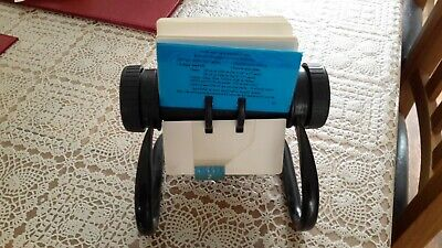 rollerdex card holder, address and contact holder.