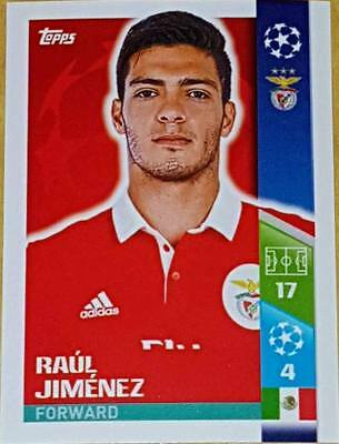 302 Raul Jimenez SL BENFICA 2017/2018 Topps UEFA Champions League stickers
