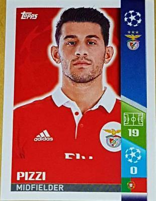 298 Pizzi SL BENFICA 2017/2018 Topps UEFA Champions League stickers