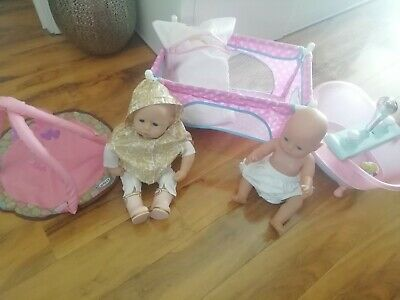 Baby Annabelle interactive doll Bundle baby born doll with baby born bath +more