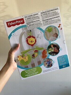 Fisher Price Grow-with-me Cot Crib Mobile With Melody Music Sounds