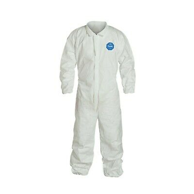Dupont Ty125 Tyvek Coverall W/Elastic Wrists & Ankles - L - 2Xl - Free Shipping