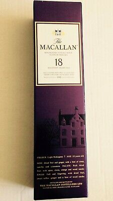 Macallan 18 Empty Box 1992/2010