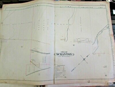 City Of Scranton - 1898 City Map Scranton - Cayuna Shaft -  Brisbun Breaker