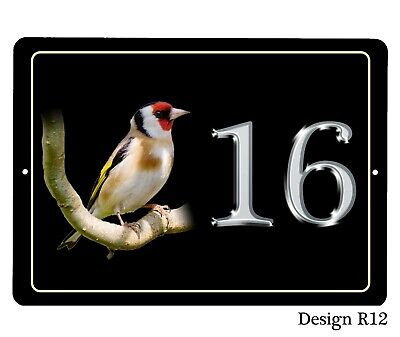 House,door name/number/road Plaque/sign/plate  Aluminium Various Birds 7x5inch