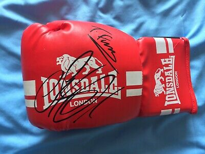 A Genuine Lonsdale Glove Signed By Tyson Fury And Deontay Wilder! 1
