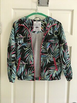 Girls M&S Summer Hooded  Rain Jacket Jungle Print 9-10 Years - worn once