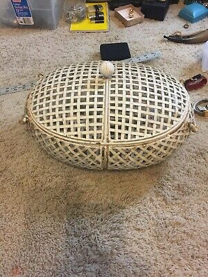 Vintage White Very Heavy Metal And Iron Excellent