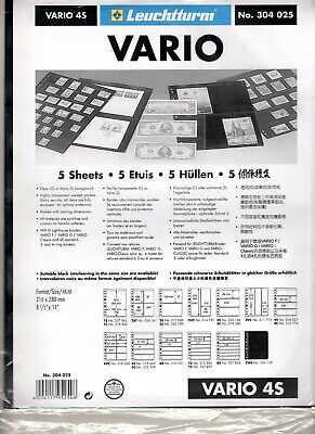 Vario 4 Pocket Stock Pages-Double Sided-Pack of 5 Sheets-Ref. #4S Dealer Stock