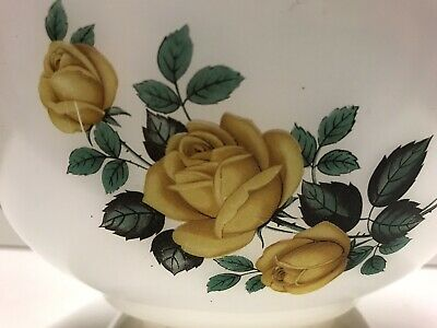 Vintage Phoenix Pyrex mixing bowl with yellow rose design,made in England, 8¾""