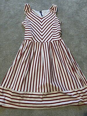Girls Red Stripey Dress From Next Size 11 Years