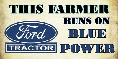 Blue Power - Ford Tractor Vinyl Decal