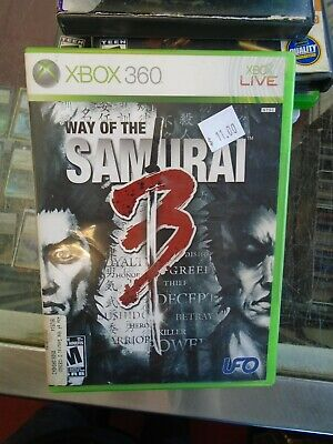 Way of the Samurai 3 (Microsoft Xbox 360, 2009) Complete  FREE SHIPPING