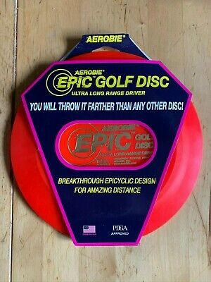NEW Red Aerobie EPIC PDGA Approved Precision ULTRA LONG RANGE DRIVER Golf Disc