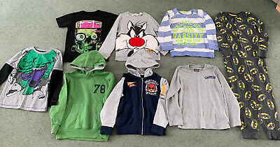 Boys Bundle Of Clothes Age 6-7 7-8 Years Next H&m Converse M&S Hoody Jumper