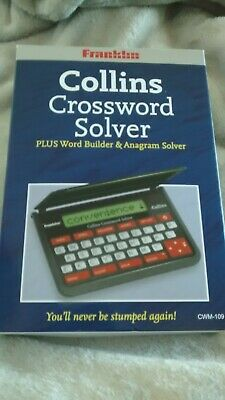 Franklin CWM109 Collins Crossword Solver; New