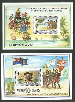 Virgin Islands   1993   Scott #781-782   Mint Never Hinged Souvenir Sheet