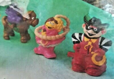 Vintage, bagged, Mcdonalds  characters Happy Meal Toys