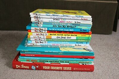 Lot of 21+ Dr. Seuss Books (Beginner + Bright & Early) Eastman McClintock