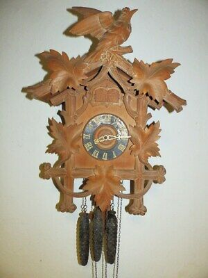 Original Black Forest Cuckoo Quail Clock  For A Easy Restauration