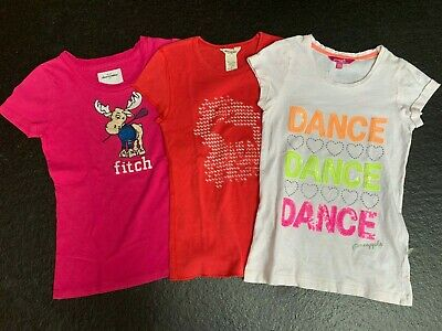 Abercrombie & Fitch and Pineapple Dance T Shirts Girls age 9-10yrs Red, pink whi