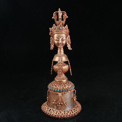 Chinese Exquisite Handmade crystal Gilt statue