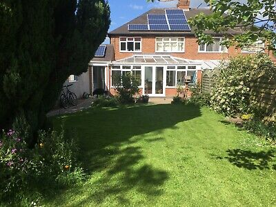 White UPVC Conservatory, good Condition With French Doors