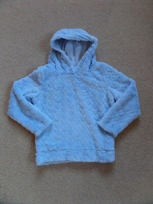 SUPER SOFT Girl's Hoodie by NUTMEG Age 6-7 Blue Hearts Perfect for NOW! VGC