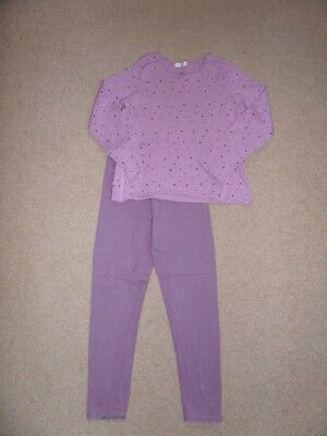 SUPER CUTE!! Girl's MANGO Outfit Age 5-6 Dusky Purple Top & Leggings Perfect for