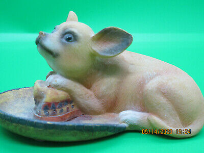 Chihuahua on Sombrero (New Ceramic Figurine)