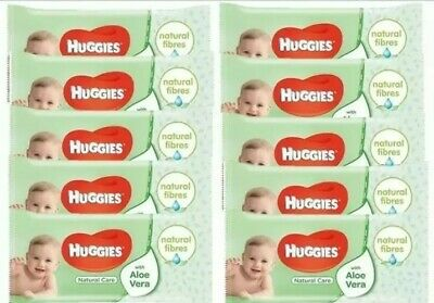 BRAND NEW Huggies Natural Care Baby Wipes  - 10 Packs of 56 Wipes