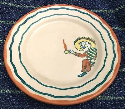 """Original Wallace China 7"""" Dinner Plate Desert Ware Southwest Mexican Theme"""
