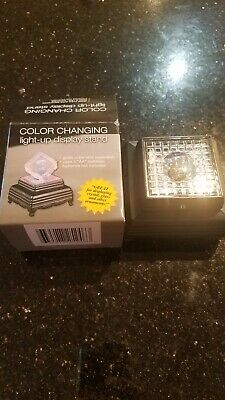 Color Changing Light Up Crystal Display Stand  with free lazer eched block